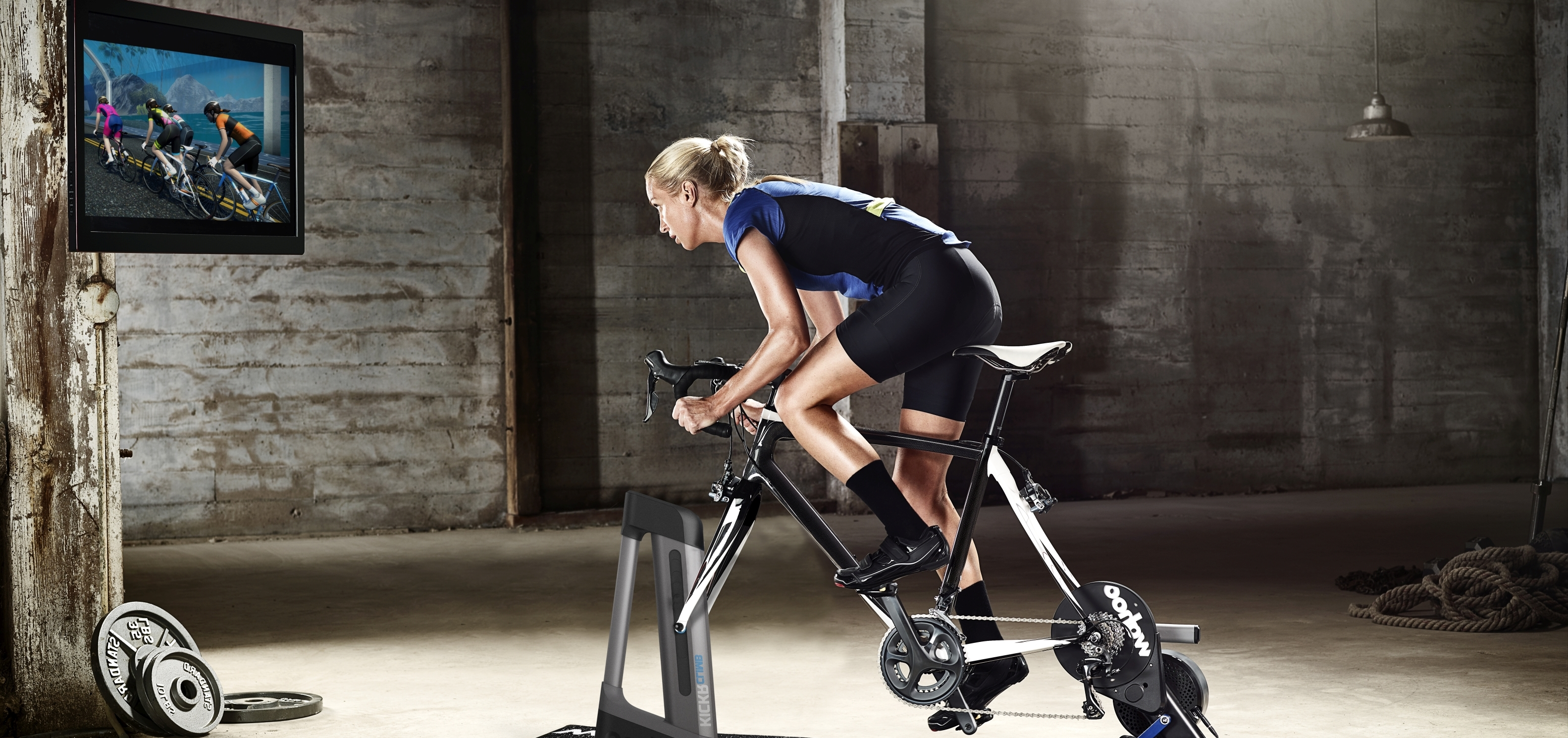 Woman working out in Pain Cave
